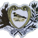 Broderte og vevde logomerker/emblem.